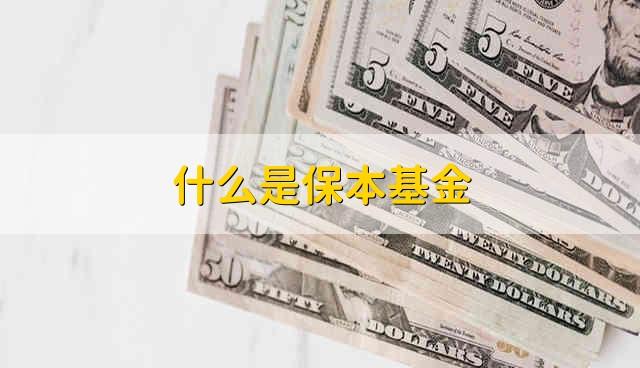 什么是保本基金 什么是保本基金