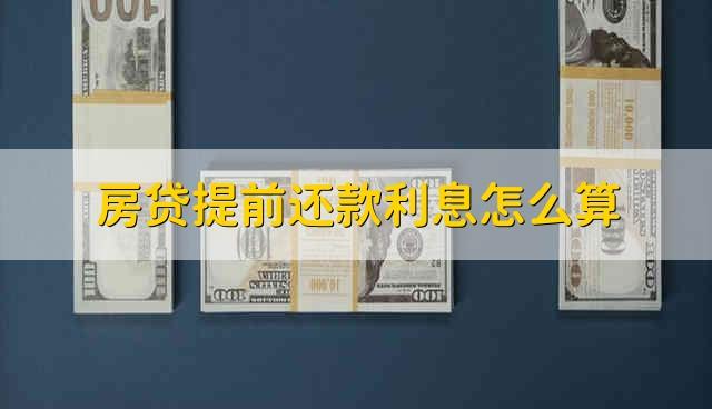房贷提前还款利息怎么算 房贷如果提取还利息应该怎么算